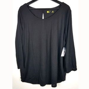 Xersion Womens Top Relaxed Fit Open Back